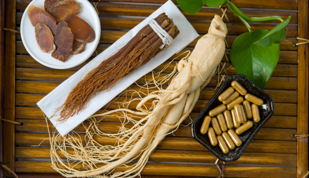 Dry Ginseng Slices, capsules and roots