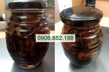 hình ảnh thực tế sâm ngọc linh ngâm mật ong tại cty Nguyên Trần